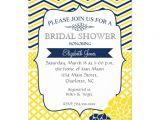 "Navy and Yellow Bridal Shower Invitations Navy Blue and Yellow Bridal Shower Invitation 5"" X 7"