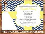 Navy and Yellow Bridal Shower Invitations Printable Bridal Shower Invitation Navy Blue by Benevolentink