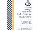 Navy and Yellow Bridal Shower Invitations Yellow and Navy Nautical Bridal Shower Invitations