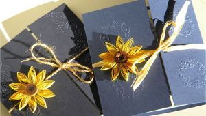 Navy Blue and Sunflower Wedding Invitations Sunflower and Navy Blue Wedding Invitation Sunflower Wedding
