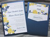 Navy Blue Wedding Invitations Kits Designs Navy Blue and Silver Wedding Invitations with Blu