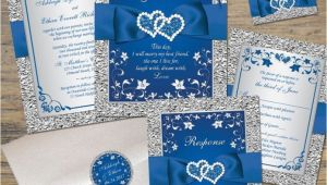 Navy Blue Wedding Invitations Kits Designs Royal Blue Wedding Invitation Kits together with