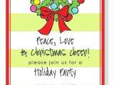 Neighborhood Christmas Party Invitation Wording Holiday Open House Invitations Christmas Open House