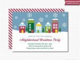 Neighborhood Christmas Party Invitation Wording Neighborhood Party Invitation Printable Christmas Open