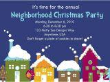Neighborhood Holiday Party Invitation Wording Items Similar to Custom Neighborhood Holiday Party