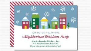 Neighborhood Holiday Party Invitation Wording Neighborhood Party Invitation Printable Christmas Open