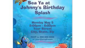 Nemo Birthday Invitation Template Finding Nemo Birthday Invitation Zazzle