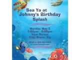 Nemo Birthday Party Invitations Finding Nemo Birthday Invitation Zazzle Com