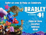 Nemo Birthday Party Invitations Finding Nemo Birthday Invitations Template Best Template