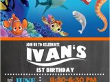 Nemo Birthday Party Invitations Finding Nemo Dory Birthday Party Invitations Personalized
