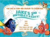 Nemo Birthday Party Invitations Finding Nemo Invitation Finding Nemo Birthday Nemo Thank
