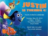 Nemo Birthday Party Invitations Free Printable Finding Dory Invitations Ideas Free