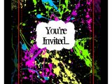 Neon Party Invitation Template Party Invitations Very Best Neon Party Invitations Design