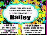 Neon Party Invitation Template Vip Ticket Neon Glow Birthday Party Invitation Vip Ticket