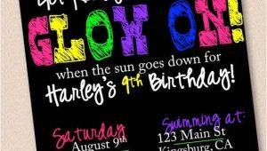 Neon Party Invitations Templates Free 25 Best Ideas About Neon Party Invitations On Pinterest