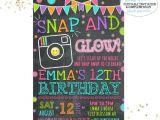 Neon Party Invitations Templates Free Neon Glow Party Invitations Template Editable and