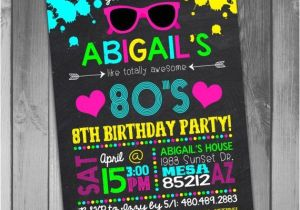 Neon themed Party Invitations 1000 Ideas About Neon Party Invitations On Pinterest