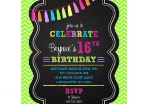 Neon themed Party Invitations 12 Best Images Of Neon Party theme Invitation Wording