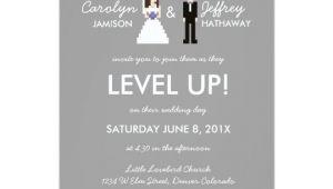 Nerdy Wedding Invitation Template Nerdy 8 Bit Bride Groom Wedding Invitation Zazzle Com