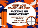 Nerf Birthday Invitations Free Nerf Gun Nerf War Birthday Party Invitation
