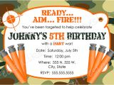Nerf Birthday Invitations Free Nerf Party Invitations Nerf Party Invitations for Simple