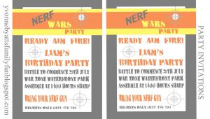 Nerf Birthday Invitations Free Nerf Party Invitations Template
