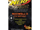 Nerf Birthday Invitations Free Personalized Nerf War Birthday Party Invitations