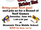 Nerf Gun Birthday Party Invitations Printable 32 Best Nerf Party Images On Pinterest Birthdays