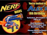 Nerf Gun Birthday Party Invitations Printable Nerf Invitations by General Prints