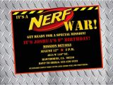 Nerf Gun Birthday Party Invitations Printable Nerf Party Invitations Nerf Birthday Invitations Nerf Bday