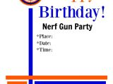 Nerf Gun Birthday Party Invitations Printable Right On Target Nerf Gun Party Fun Squared