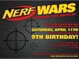 Nerf War Party Invitation Template Nerf Wars Invitation 5 X 7 Digital Download Pdf Nerf