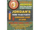 Nerf War Party Invitation Template Personalized Nerf War Invitations Custominvitations4u Com
