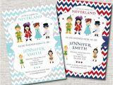 Neverland Baby Shower Invitations Neverland Baby Shower Invitation Peter Pan by