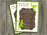 Neverland Baby Shower Invitations Neverland Peter Pan and Tinkerbell Inspired Baby Shower