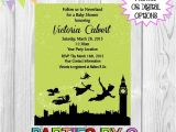 Neverland Baby Shower Invitations Peter Pan Baby Shower Birthday Party Any Color by