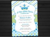 New Little Prince Baby Shower Invitations Items Similar to A New Little Prince Baby Shower