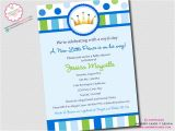 New Little Prince Baby Shower Invitations Little Prince Baby Shower Invitation Digital by Inkberrycards