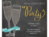 New Year Party Invitation Card Design New Year Invite Champagne Party Invitations & Cards On