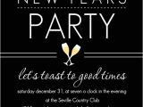 New Year Party Invitation Card Design New Years Invites Elegant Black New Years Party Invite