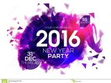 New Year Party Invitation Card Design Party Invitation Card for New Year 2016 Stock
