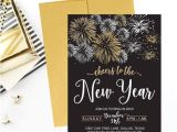 New Year Party Invitation Template New Year 39 S Eve Party Invitation Template Elegant Black Etsy