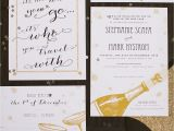 New Years Eve Wedding Invitation Ideas Elegant and Glamorous Love the Gold Custom New Years Eve