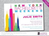 New York Party Invitations New York Bachelorette Party Invitation