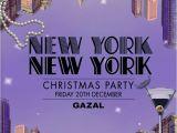 New York Party Invitations New York themed Christmas Party Invitation Set Tiffany