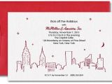 New York Party Invitations Red New York Skyline Party Invitations