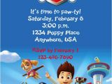 Nick Jr Paw Patrol Birthday Invitations Kristin On Etsy