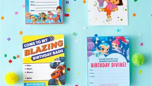 Nick Jr Printable Birthday Invitations Nick Jr Printable Birthday Party Invitations Nick Jr