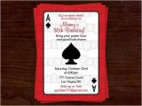 Nightclub themed Party Invitations Casino Night Poker theme Birthday Party Invitation Red