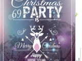 Nightclub themed Party Invitations Christmas Party Flyer for Club and Disco events Stock